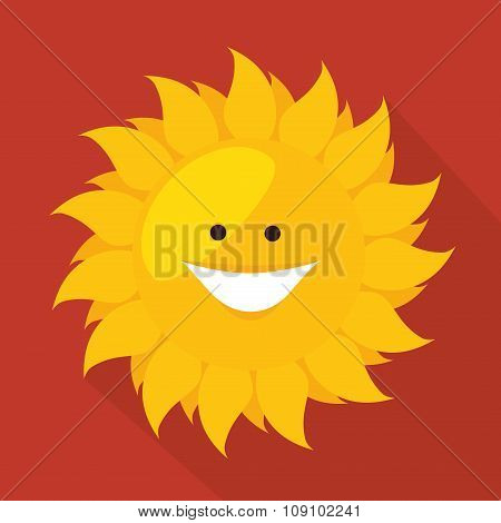 Sun smiling cartoon