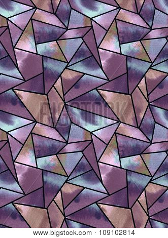 seamless watercolor geometric pattern.