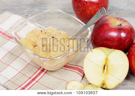 Applesauce With Some Apples