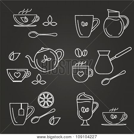 Tea And Coffe Icons