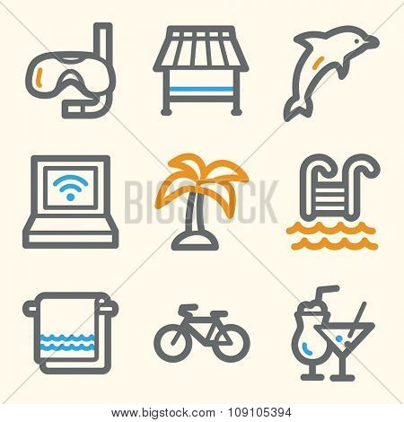 Vacation web icons