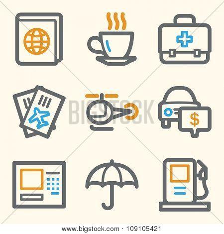 Travel web icons