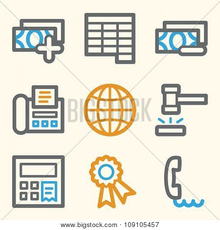 Finance web icons
