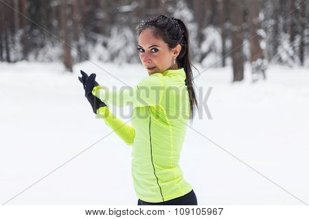 Stretching athlete warming up workout outdoors. healthy fitness lifestyle.