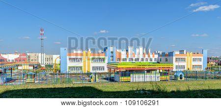 Exterior Of New Beautiful Joyful Kindergarten