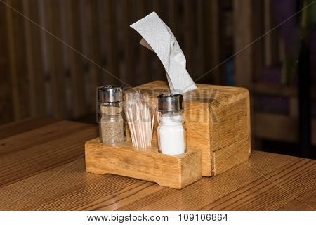 Salt and pepper for dish