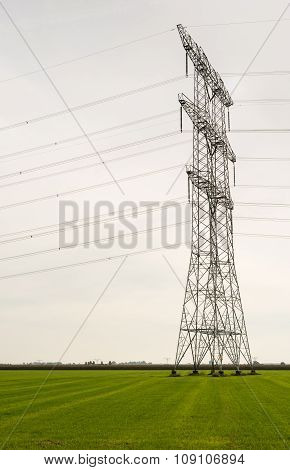 Power Pylons In An Agricultural Area