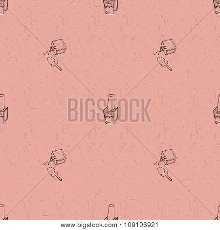 Seamless pattern with nail polish