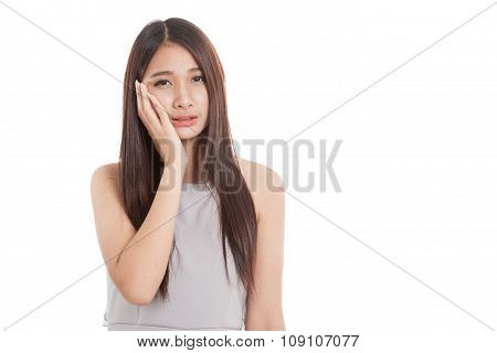 Young Asian Woman Got Toothache