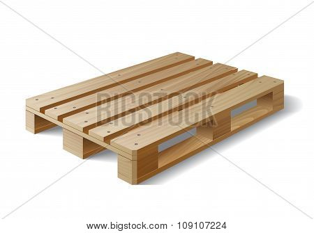 Wooden pallet. Isolated on white.