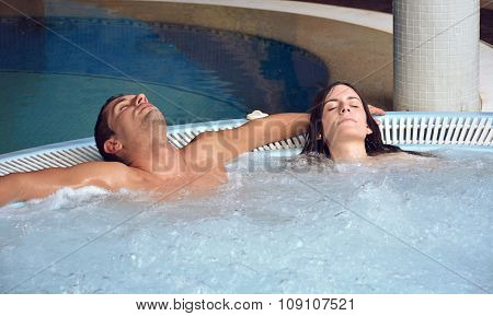 Couple In Love In swimming pool