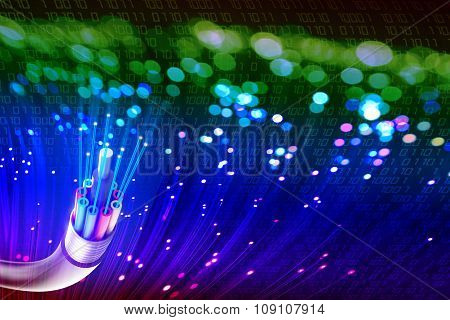 Optical Fiber With Lights