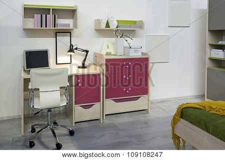 Interior Of Student (teenager) Room - Back To School