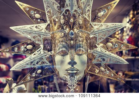 Luxury Carnival Mask In Venice