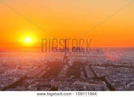 Eiffel Tower and Paris cityscape