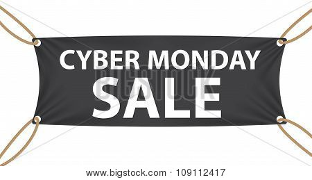 Cyber Monday SALE Label Vector Illustration