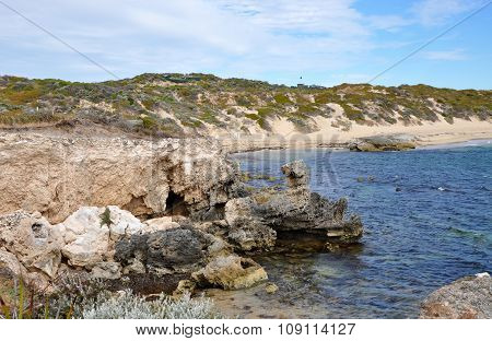 Rocky Secluded Beach at Cape Peron, Western Australia