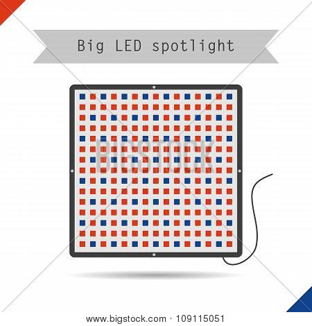 Icon big LED spotlight for plants