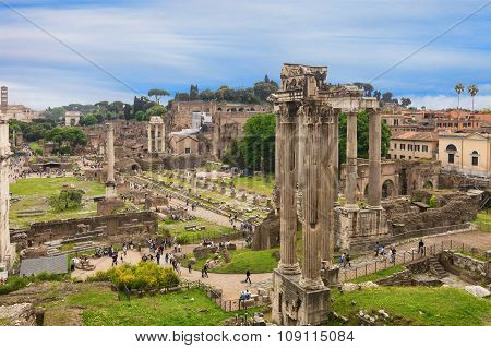 The Forum Romanum, Italy