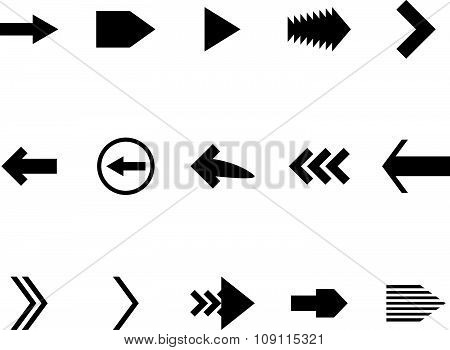 Set arrow black white icon