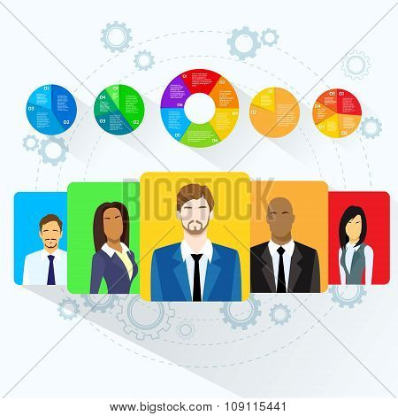 Circle Pie Diagram People Social Media Marketing Target Group Audience Demographic Statistic