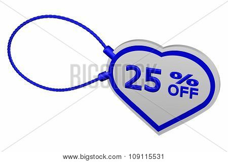 Heart Tag With Sign Discount 25 % Off