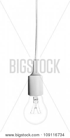 One  lamp on white background