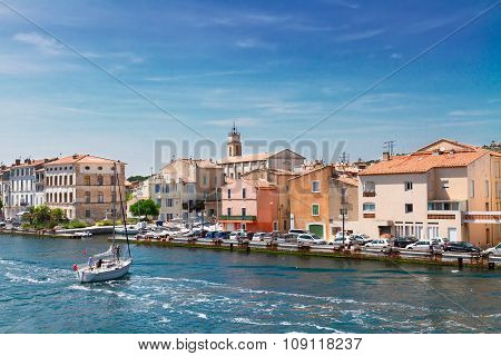 old harbor with boats Martigues, Provence,  France