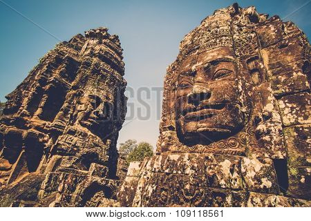 Prasat Bayon temple, Angkor, Siem Reap, Cambodia.