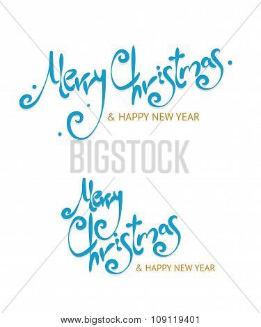 Christmass Sign Letters Set. Vector