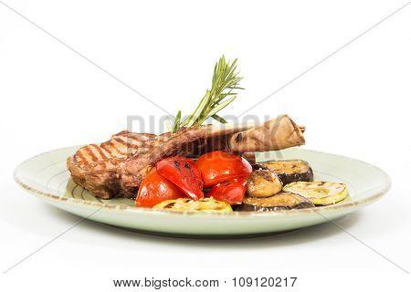 Meat Of Rib In Dish