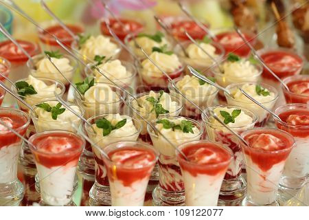 Creamy Layer Desserts In Glasses