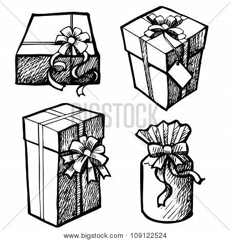 Sot Of Grunge Christmas Gift Boxes