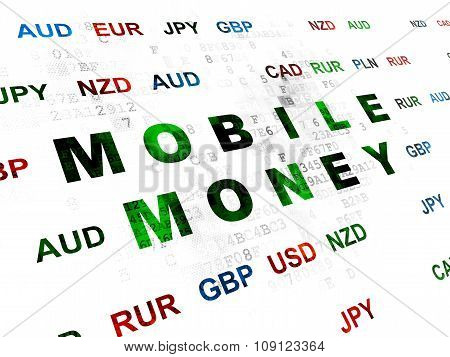 Money concept: Mobile Money on Digital background