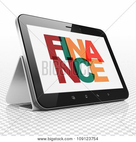 Banking concept: Tablet Computer with Finance on  display