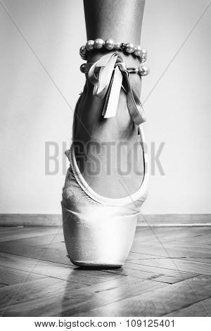 Feet of dancing ballerina