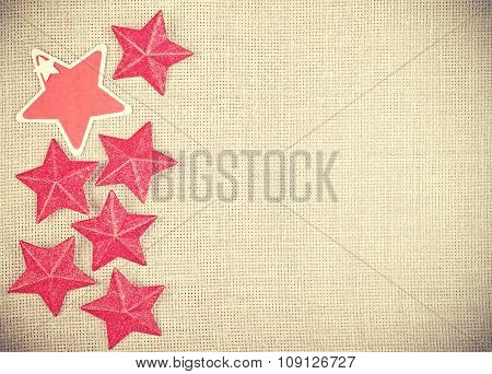 Vintage Toned Style Christmas Background, Space For Text.