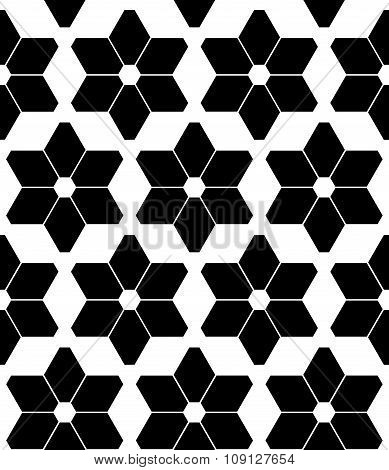 Vector modern seamless geometry pattern stars black and white abstract