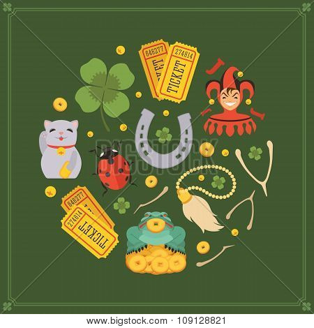 Vector decorating design made of Lucky Charms