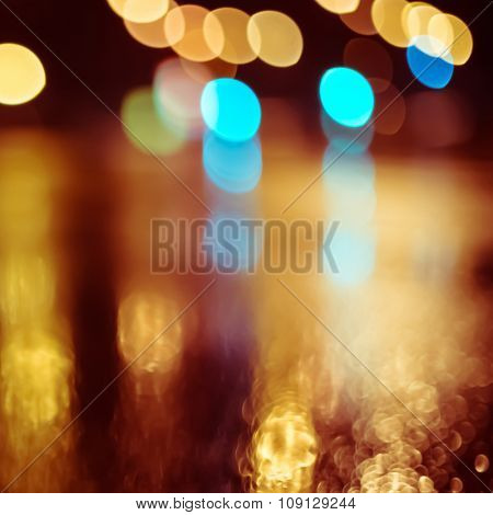 Abstract colorful blurry bokeh background.