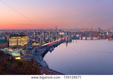 Kiev Aerial Skyline, Ukraine