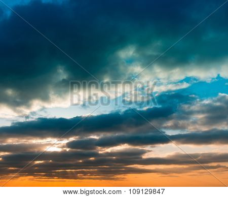 magnificent sky at sunset. beautiful background