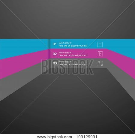 Vector infographics linear element, a template for the design of the website.