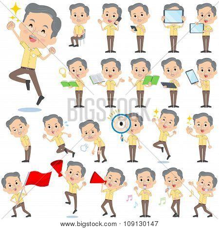 Yellow Shortsleeved President Men 2
