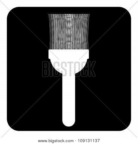 Brush Icon On White.