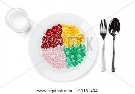 Nutrition, isolated on white. Healthcare concept.