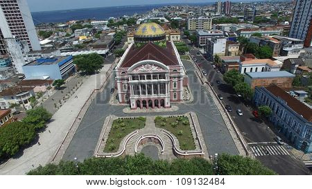 MANAUS, BRAZIL - CIRCA OCTOBER 2015: Amazon Theater in Manaus, Brazil