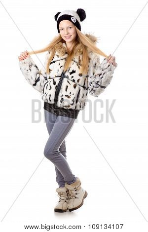 Girl In Funny Winter Coat