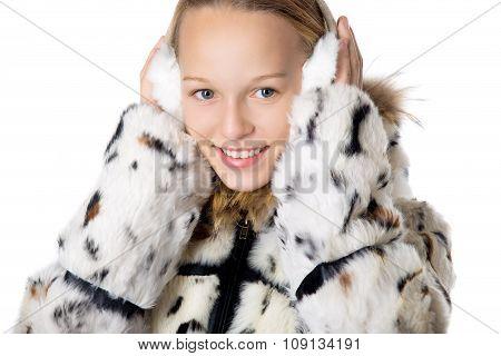 Girl In Furry Earmuffs