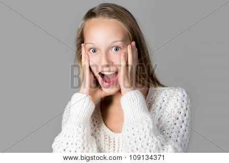 Girl Expressing Excitement